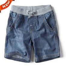 Джинсовые летний детский случайные джинсы мальчик моды шорты бренд детские
