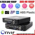 AHD/N DVR 4 Canais 8 Canais CCTV AHD DVR AHD-N Híbrido DVR/1080 P 4em1 Gravador de Vídeo NVR Para Câmera IP Câmera Analógica AHD câmera