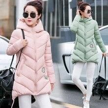 Warm Woman Parkas Winter Women Coat Thicken Down Cotton Hooded Winter Jacket Outwear for Women Padded