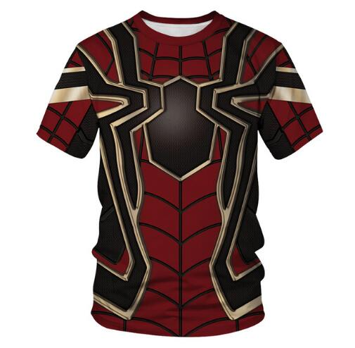 Pullover Tshirts Avenger Superhero Animal-Printed Spider-Man Kids Girl Boy Fashion Cool