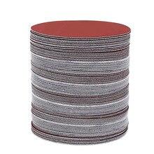 100 pcs 6 אינץ 150mm עגול נייר זכוכית דיסק חול גיליונות חצץ 40 2000 עבור לבחור וו לולאה מלטש דיסק לסנדר גריסים