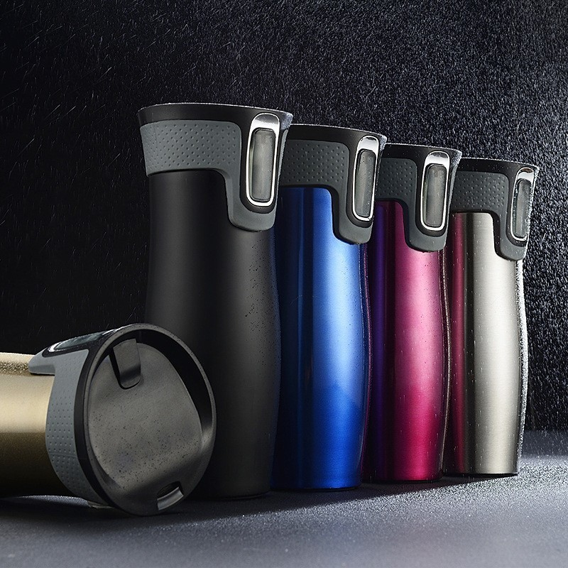 450ml AUTOSEAL Mug Thermo Coffee Stainless Steel Vacuum Cup Insulated Mugs Water Flask Thermal Tea Bottle Auto Cups With Heated