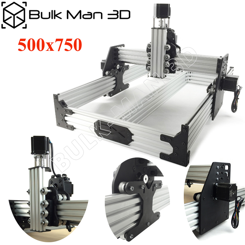 OX CNC Router Kit 500x750mm 4Axis Woodworking Engraving Milling Machine Desktop DIY Belt Driven With Nema23 Stepper Motors