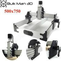 OX CNC Router Kit 500x750mm 4Axis Woodworking Engraving Milling Machine Desktop DIY Belt Driven with Nema23 Stepper Motors