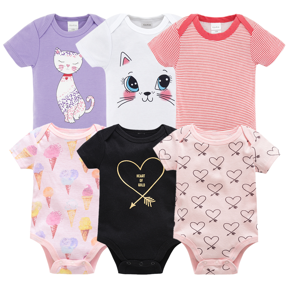 086dadd927d3f 2019 New Kavkas Newborn Baby Girls Footies Boys Clothes Babies Footie Long  Sleeve 100%cotton printing Infant Clothes 0-12 Months ~ Perfect Sale July  2019