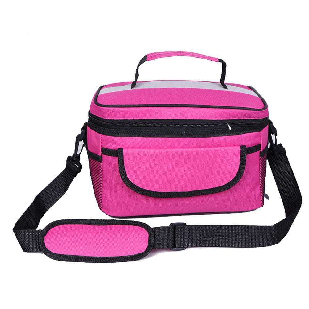 SaiDeng Multifunctional Oxford Cloth Thermal Insulated Lunch Bag Picnic Cooler Bag Storage Box Tote Shoulder Bag-30