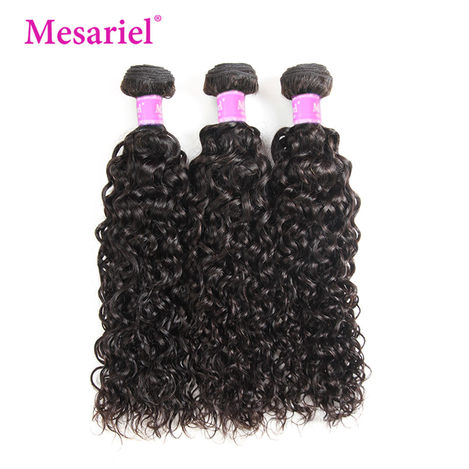 Mesariel Hair Water Wave Human Hair Bundles 3PCS Brazilian R