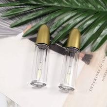 Прозрачный пластиковый пули косметический контейнер для губной помады, прозрачный тюбик для блеска для губ, бальзам для губ красоты/Консилер Золотая Крышка для бутылок