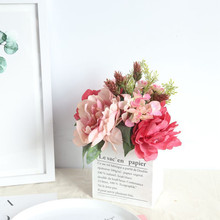 Artificial flower peony bouquets Milan hydrangea bunch home decoration wedding fake flowers