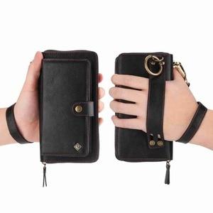Image 2 - Purse Wristlet Phone Case For coque iphone 11 Pro X Xr Xs Max 6 6s 7 8 Plus Se 2020 Apple Funda Etui Luxury Leather Phone Cover