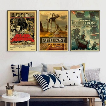 Retro Kraft Paper Poster Star Wars Poster Retro Art Wall Home Decoration Movie poster Wall Stickers 21*30cm