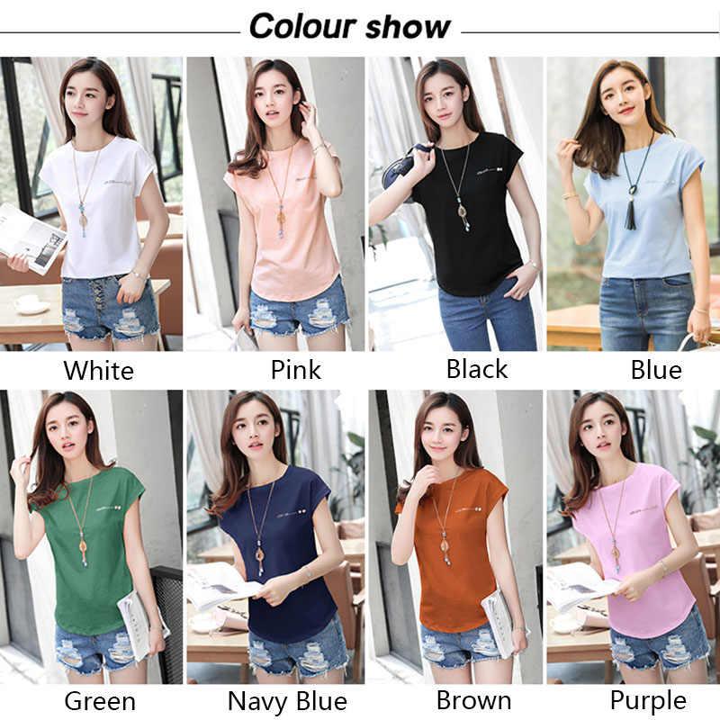 Женская блузка, летняя хлопковая рубашка, 2019, короткий рукав, женские топы, женские, одноцветные, белые, черные, тонкие, офисные блузы, модные, размера плюс, C51