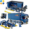 F1 racing car 641 unids enlighten educativos ensamblar ladrillos bloques de juguete de los niños diy juguetes para niños compatibles con las principales marcas