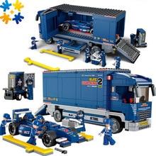 WMX F1 Racing Car 641pcs Educational Enlighten Assembling Bricks Toy Children DIY Kids Toys Christmas compatible with legoe