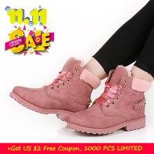 a685cba84e0f7 Fujin mulheres botas de neve nova moda retro fresco de outono e inverno  botas Senhoras Ata
