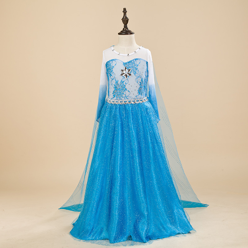 EMS DHL Free shipping 2016 NEW little girls kids Cute Elsa Princess Tulle Easter Dress with Cape dress Sequin Sparkle Ice Queen new original qy80 qy80 ts qy80 7s with free dhl ems