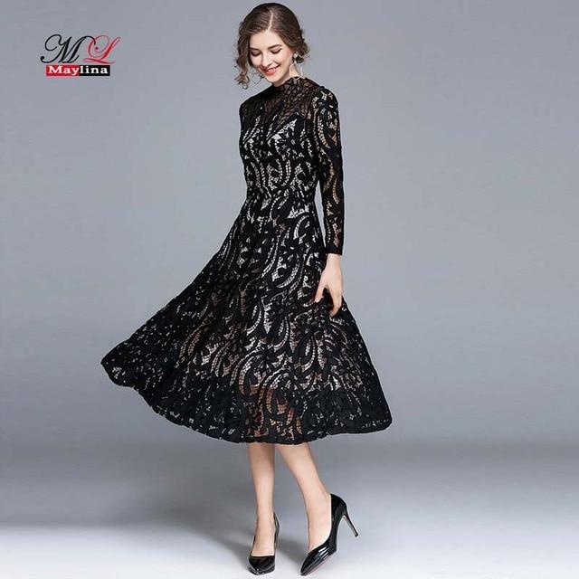 Long sexy black dresses