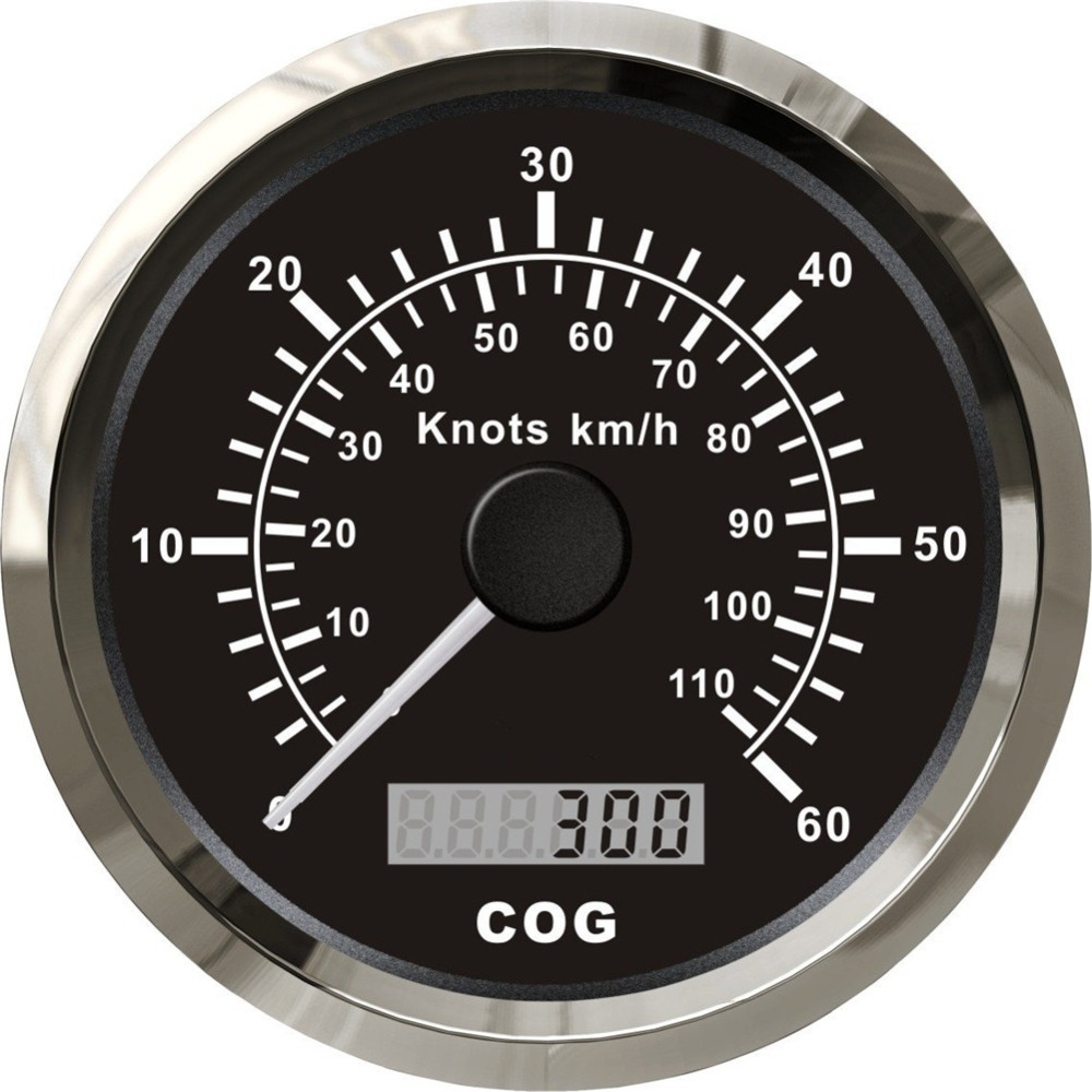 brand new 85mm GPS speedometers odometers 0 60knots / 60 sea mile gps speed gauge 0 110km/h for vessel yacht with backlight