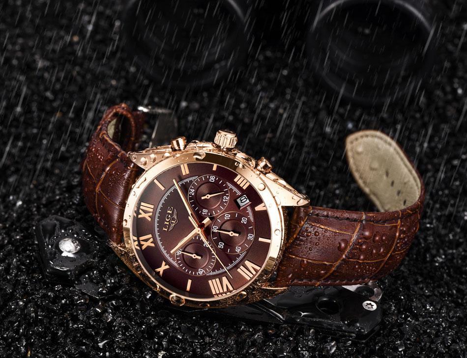 HTB1vp3yPgHqK1RjSZFgq6y7JXXaa LIGE Watch For Men Top Brand Luxury Waterproof 24 Hour Date Quartz Clock Brown Leather Sports WristWatch Relogio Masculino 2019