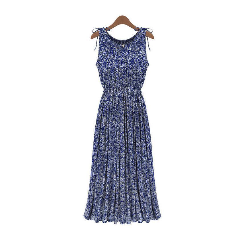 Floral de la vendimia de Las Mujeres Del Verano de Boho Largo Maxi vestido de Ti
