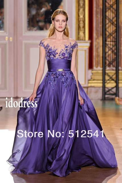 Sexy V-neck Ball Gown Celebrity Dresses 2016 New Arrival Chiffon Embroidery Applique Beads Ruffle yk-8A67
