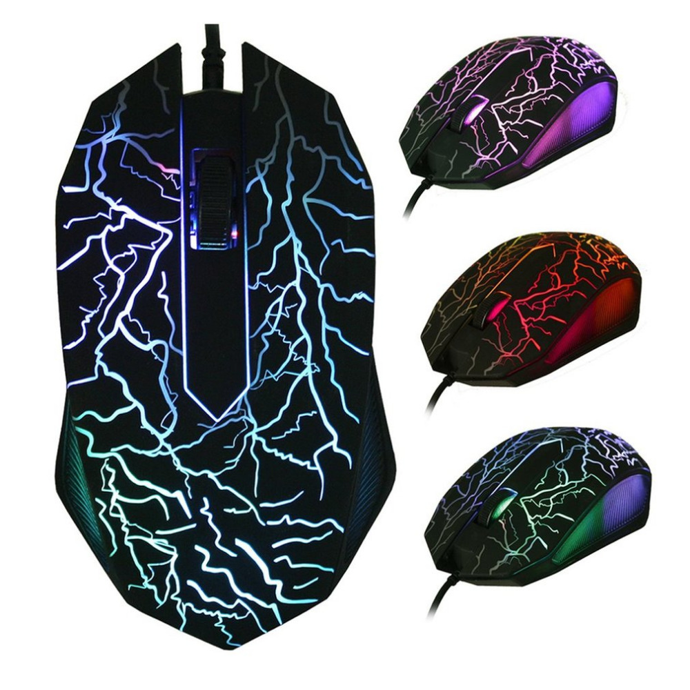 LED Optical 3 Buttons 3D USB Wired Gaming Game Mouse Pro Gamer Computer Mice For PC Adjustable USB Wired Gaming Mouse 3200DPI et t6 wired gaming mouse black