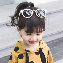 HJYBBSN Round Cat Eye Kids Sunglasses Colorful Comfortable C