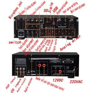 Image 2 - Kaolanhon 12V 220V/110V 300W*2 high power Bluetooth amlifier AV 326BT home ampplifier EQ equalizer square dance car amplifier