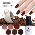 BORN PRETTY Coffee Series 5ml Soak Off UV Gel Polish Long-lasting 1 Bottle Manicure Nail Art Gel Polish Tool