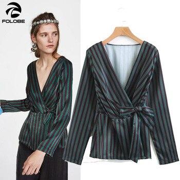 Blusas a rayas negras, verdes y azules, Tops y Blusas para Mujer De manga larga, Blusas De Mujer De Moda, camisa blusa De otoño 2020