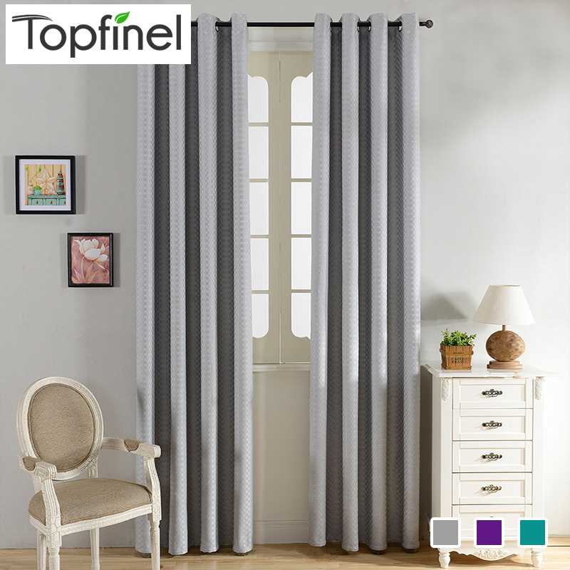 Top Finel Plaid Pattern Design Blackout Curtains For Living Room The  Bedroom Window Blinds Room Dark