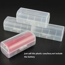 30pcs/lot Plastic Battery Box Case Holder Transparent battery Holder Organizer For 1 X 26650 Rechargeable Battery Storage Boxes стоимость