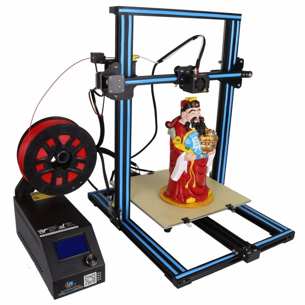 Bricolage 3D imprimante Kit 300*300*400mm taille d'impression avec double z-rod plomb moteur Filament détecteur haute précision