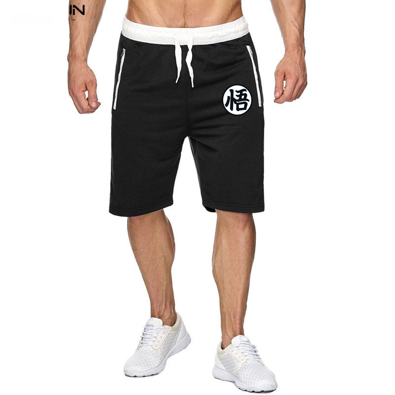 Summer Anime men's   shorts   Dragon Ball Z Comics   shorts   gyms muscle cotton fitness   shorts   sweatpants Brand men's Bermuda   shorts