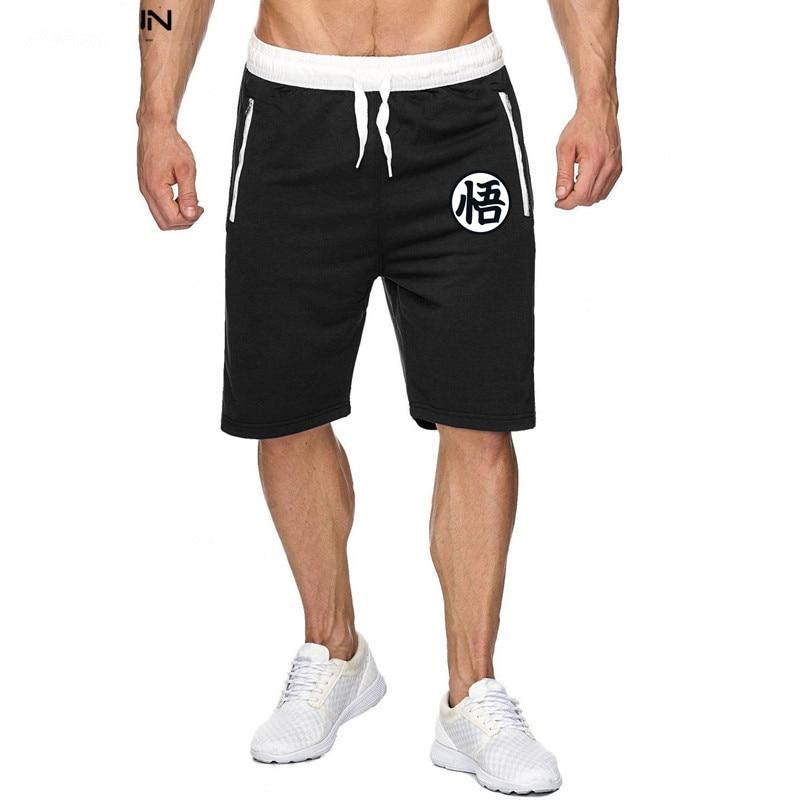 Summer Anime men's   shorts   Dragon Ball Z Comics   shorts   gyms muscle cotton fitness   shorts   sweatpants Brand men's Bermuda   shorts