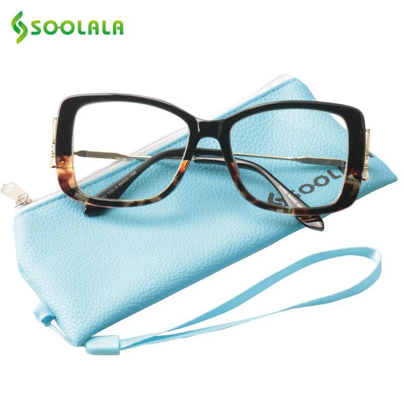 SOOLALA gran marco gafas de lectura para mujer para hombre gafas de ...