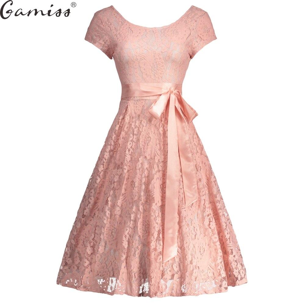 gamiss robe femme vintage floral lace dress women elegant. Black Bedroom Furniture Sets. Home Design Ideas