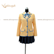 Kisstyle Fashion Black Rock Shooter Mato Kuroi Uniform COS Clothing Cosplay Costume,Customized Accepted