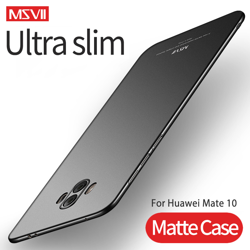 Cases For Mate 10 MSVII Hard PC Full Protection Cover Ultra Slim Matte Case Cover For Huawei Mate10 Mate 10 Pro Lite Phone Case