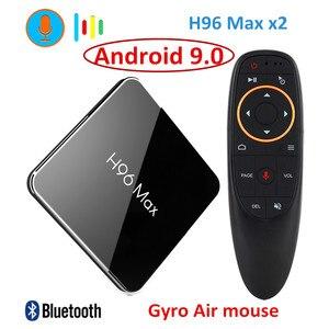 Image 1 - H96 Max X2 Android 9.0 TV BOX Amlogic S905x2 LPDDR4 4GB 64GB Quad Core 2.4G/5G Wifi 4K Smart media player H96MAX PK X96 MAX