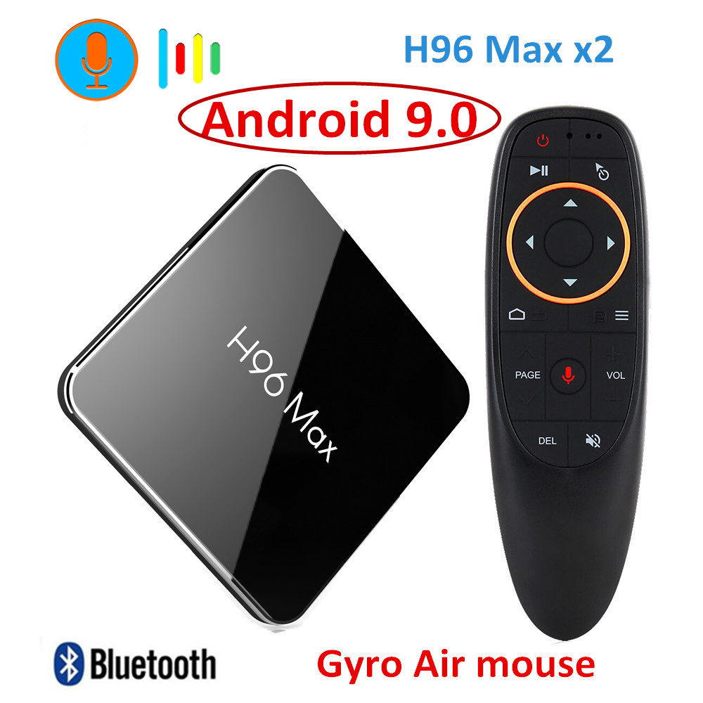 H96 Max X2 Android 9.0 TV BOX Amlogic S905x2 LPDDR4 4GB 64GB Quad Core 2.4G/5G Wifi 4K lecteur multimédia intelligent H96MAX PK X96 MAX