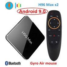 H96 最大X2 アンドロイド 9.0 tvボックスamlogic S905x2 LPDDR4 4 ギガバイト 64 ギガバイトクアッドコア 2.4 グラム/5 3g wifi 4 18kスマートメディアプレイヤーH96MAX pk X96 最大
