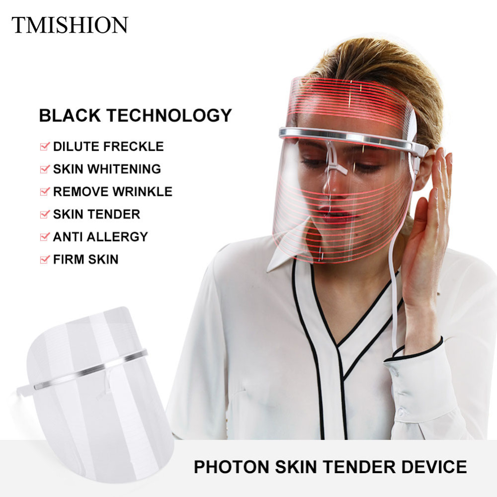 LED Facial Mask 2Color Photon Electric LED Mask Anti Wrinkle Acne Removal Face Skin Rejuvenation Facial Spa Salon Beauty Machine картридж epson original t08254a для r270 390 rx590 светло голубой c13t11254a10