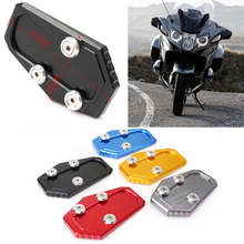 For BMW R1200RT 2014 2015 2016 2017 2018 Aluminum CNC Motorcycle Kickstand Foot Side Stand Extension Pad Support Plate цена