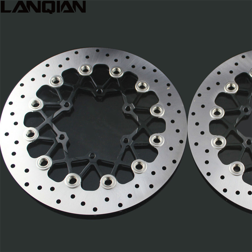 NEW 2PCS Motorcycle Front Floating Brake Disc Rotor For SUZUKI GSXR600 GSXR750 2008 - 2014 GSXR1000 2009 -2014 GSXR 600 750 1000 front brake disc for suzuki gsxr 1000 k1 k2 01 02 motorcycle parts
