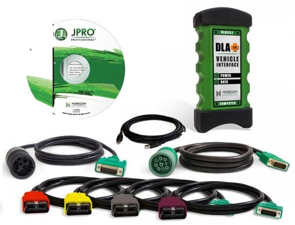 100% Высокое качество JPRO DLA + 2,0 автомобиля Интерфейс дизельный новые 2016 V1.0 программным обеспечением Heavy Duty Truck сканер флота диагностический ин...