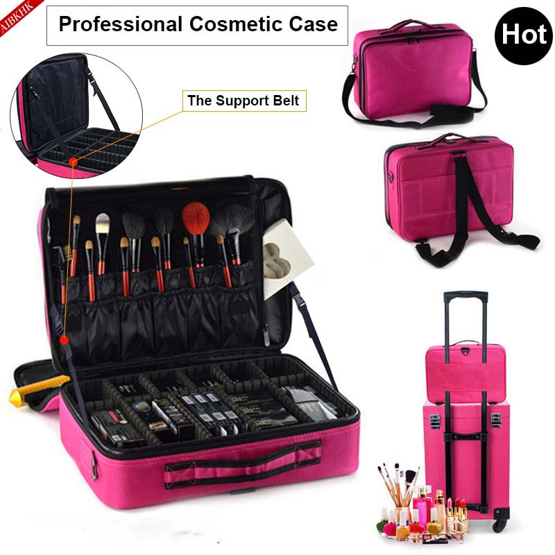 Cosmetics Pouch Bags Makeup-Organizer Beauty-Case Travel Professional Women Fashion Box title=