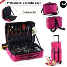 Women Fashion Cosmetic Bag Travel Makeup Organizer Professional Make Up Box Cosmetics Pouch Bags Beauty Case For Makeup Artist(China)