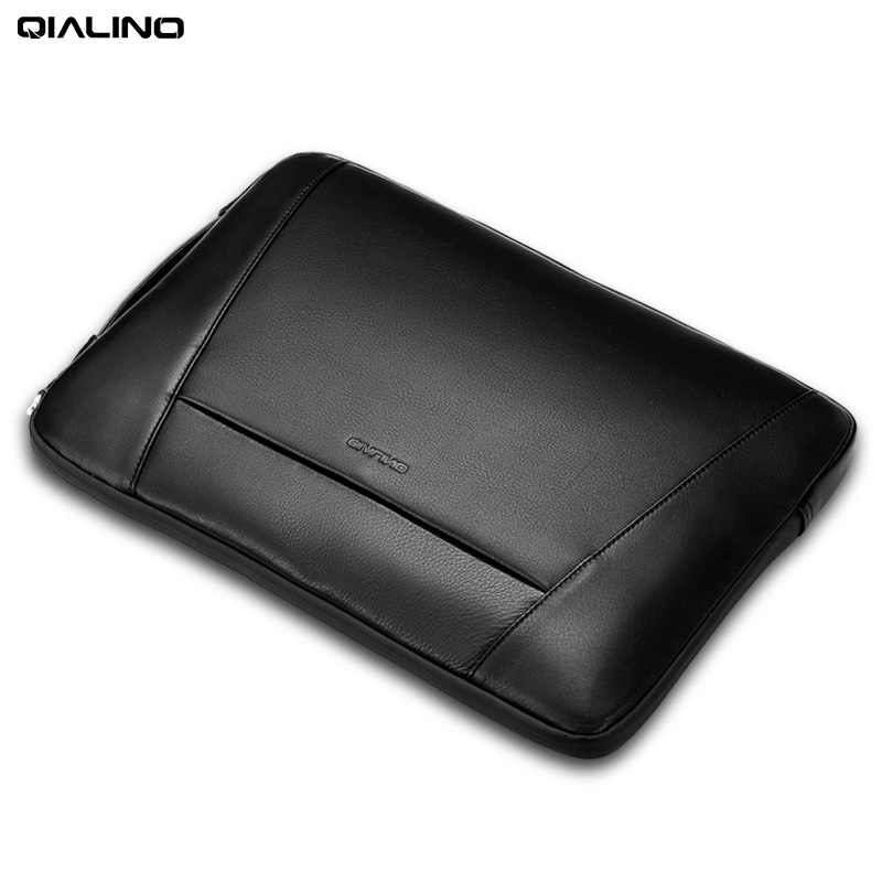 ce82c5078 QIALINO Business Style Genuine Leather Briefcase Sleeve Case Laptop Bag for  MacBook Pro 15/13