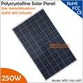 1640x990x40mm de Alta Qualidade 250 W 30 V (60 células) Policristalino Do Painel Solar para Laço da grade ou Fora Da Rede do Sistema De Energia Solar